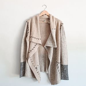 BKE Colorblocked Cardigan Sweater
